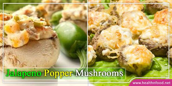 Jalapeno Popper Mushrooms