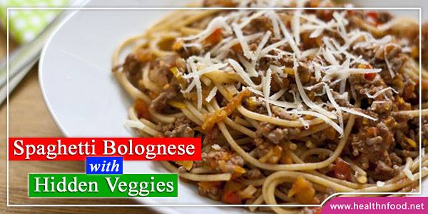 Spaghetti Bolognese with Hidden Veggies