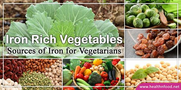 Top Iron Rich Vegetables List