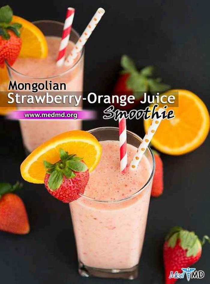 Mongolian Orange-Strawberry Juice Recipe