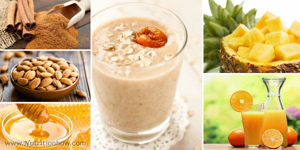 Pineapple Honey and Cinnamon Smoothie
