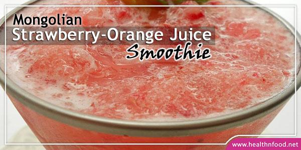 Strawberry-Orange Juice Drink