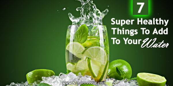 Healthy things to put in water