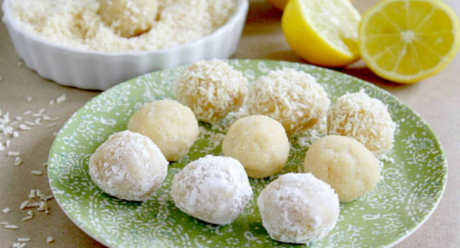 Raw Vegan Meltaway Lemon Balls