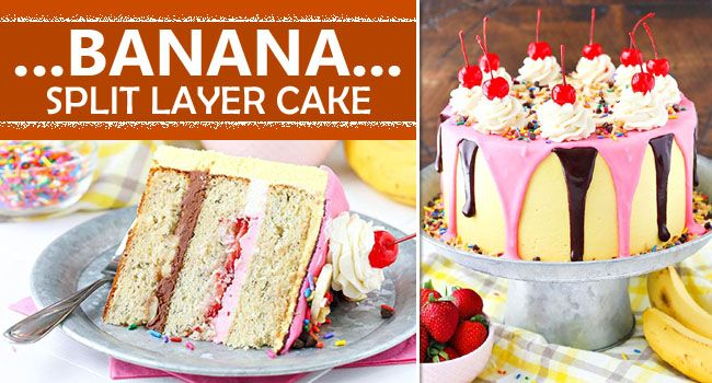 Banana Split Ice Cream Cake Recipe