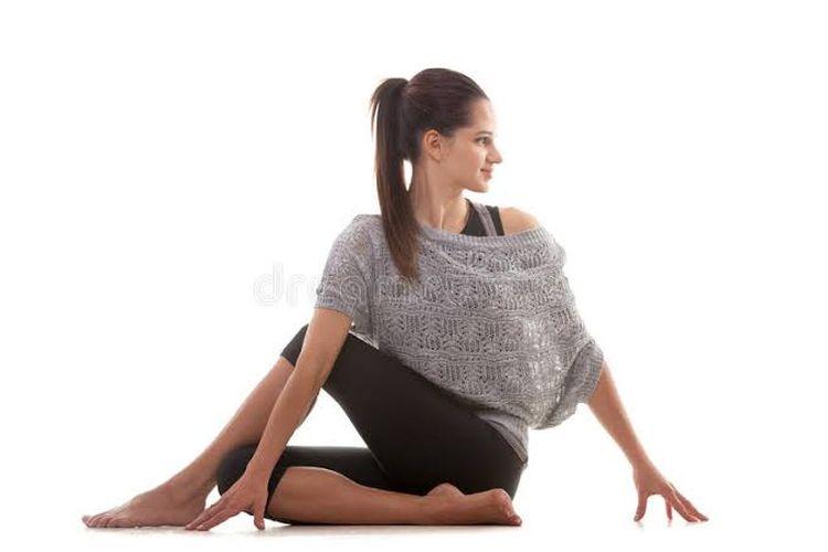 Ardha Matsyendrasana Spine Twisting Pose