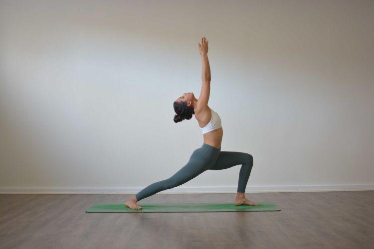 Virabhadrasana Warrior I Yoga Pose